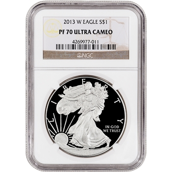 2013-W American Silver Eagle Proof - NGC PF70UCAM