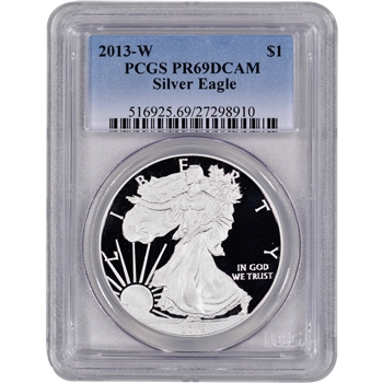 2013-W American Silver Eagle Proof - PCGS PR69DCAM