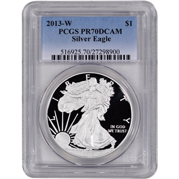 2013-W American Silver Eagle Proof - PCGS PR70DCAM