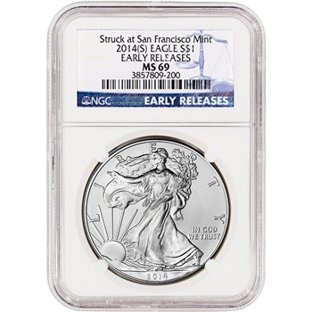 2014-(S) American Silver Eagle - NGC MS69 - Early Releases