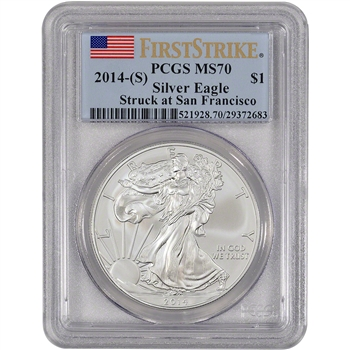 2014-(S) American Silver Eagle - PCGS MS70 - First Strike