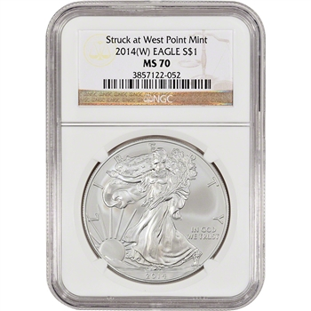 2014-(W) American Silver Eagle - NGC MS70