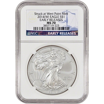 2014-(W) American Silver Eagle - NGC MS70 - Early Releases