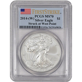 2014-(W) American Silver Eagle - PCGS MS70 - First Strike