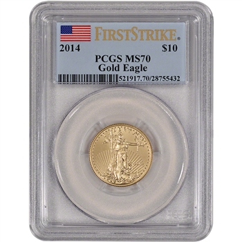 2014 American Gold Eagle (1/4 oz) $10 - PCGS MS70 - First Strike