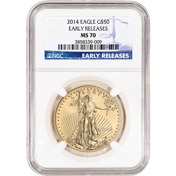 2014 American Gold Eagle (1 oz) $50 - NGC MS70 - Early Releases
