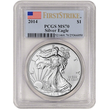 2014 American Silver Eagle - PCGS MS70 - First Strike