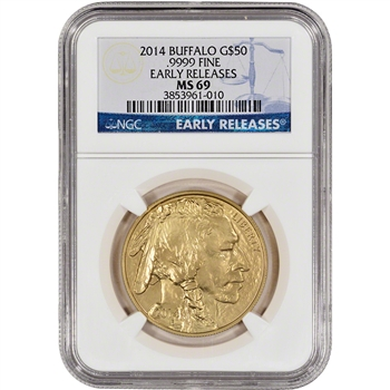 2014 American Gold Buffalo (1 oz) $50 - NGC MS69 - Early Releases