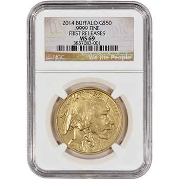 2014 American Gold Buffalo (1 oz) $50 - NGC MS69 - First Releases We the People