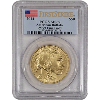 2014 American Gold Buffalo (1 oz) $50 - PCGS MS69 - First Strike
