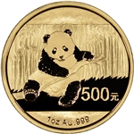 2014 China Gold Panda (1 oz) 500 Yuan - BU