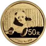 2014 China Gold Panda (1/10 oz) 50 Yuan - BU