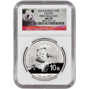 2014 China Silver Panda (1 oz) - NGC MS70 - First Releases