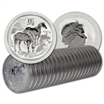 TWENTY (20) 2014 Australia Silver Lunar 'Year of the Horse' (1 oz) $1 - BU