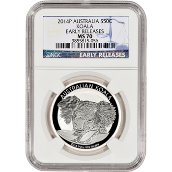 2014-P Australia Silver Koala (1/2 oz) 50C - NGC MS70 - Early Releases