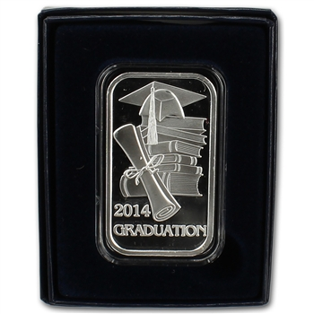 2014 Silver 1 oz. Bar - Graduation 2014 in Giftbox