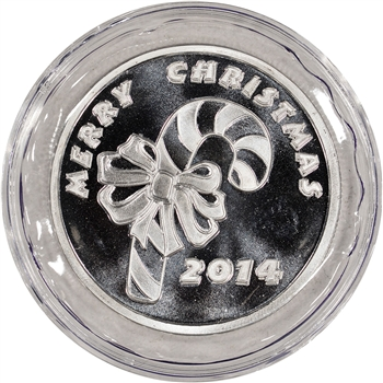 2014 Holiday Silver 1 oz. Medallion - Candy Cane