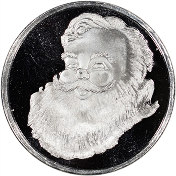 2014 Holiday Silver 1/2 oz. Medallion - Santa Claus
