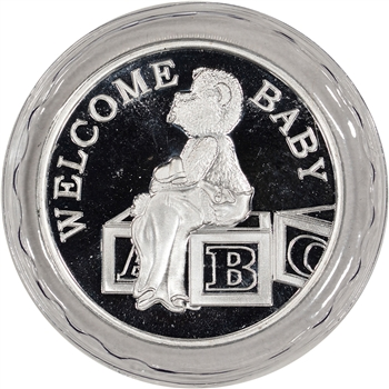 2014 Silver 1 oz. Medallion - Welcome Baby