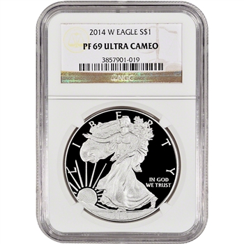 2014-W American Silver Eagle Proof - NGC PF69 UCAM