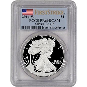 2014-W American Silver Eagle Proof - PCGS PR69 DCAM - First Strike