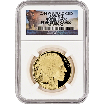 2014-W American Gold Buffalo Proof (1 oz) $50 - NGC PF69 UCAM - First Releases