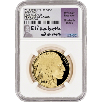 2014-W American Gold Buffalo Proof (1 oz) $50 - NGC PF70 - First Releases -Jones