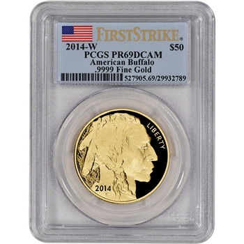 2014-W American Gold Buffalo Proof (1 oz) $50 - PCGS PR69 DCAM - First Strike