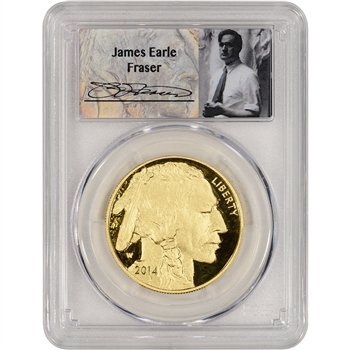 2014-W American Gold Buffalo Proof (1 oz) $50 - PCGS PR70 DCAM - Fraser Label