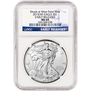 2015-(W) American Silver Eagle - NGC MS69 - Early Releases
