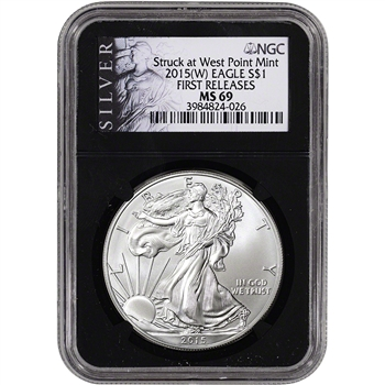 2015-(W) American Silver Eagle - NGC MS69 - First Releases - ALS Label Retro