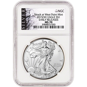 2015-(W) American Silver Eagle - NGC MS70 - Early Releases - ALS Label