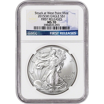 2015-(W) American Silver Eagle - NGC MS70 - First Releases