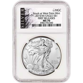 2015-(W) American Silver Eagle - NGC MS70 - First Releases - ALS Label