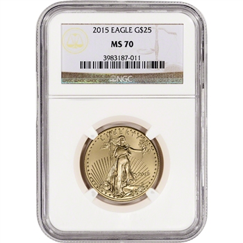 2015 American Gold Eagle (1/2 oz) $25 - NGC MS70