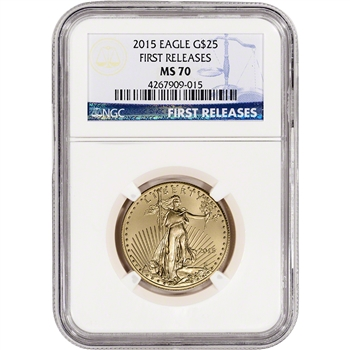 2015 American Gold Eagle (1/2 oz) $25 - NGC MS70 - First Releases
