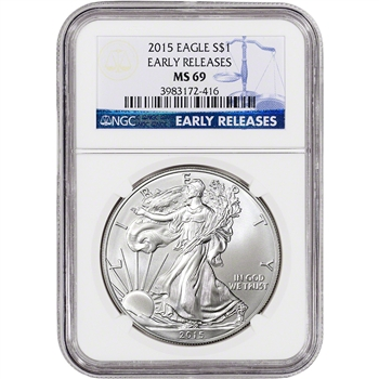 2015 American Silver Eagle - NGC MS69 - Early Releases