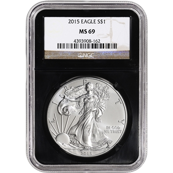 2015 American Silver Eagle - NGC MS69 - Retro Black Core Holder