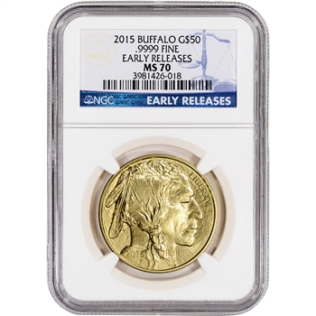 2015 American Gold Buffalo (1 oz) $50 - NGC MS70 - Early Releases