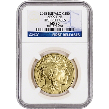 2015 American Gold Buffalo (1 oz) $50 - NGC MS70 - First Releases