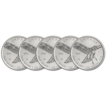2015 Canada Silver Red-Tailed Hawk (1 oz) $5 BU - Five 5 Coins