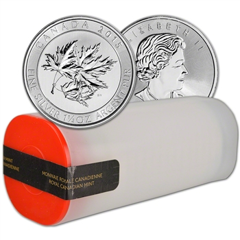 2015 Canada Silver SuperLeaf (1-1/2 oz) $8 BU - 1 Roll - 15 Coins in 1 Tube