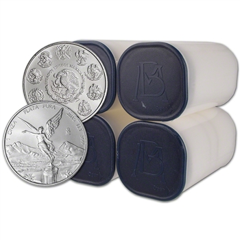 2015 Mexico Silver Libertad (1 oz) 1 Onza - 4 Rolls - 100 Coins in 4 Mint Tubes