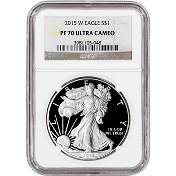 2015-W American Silver Eagle Proof - NGC PF70 UCAM