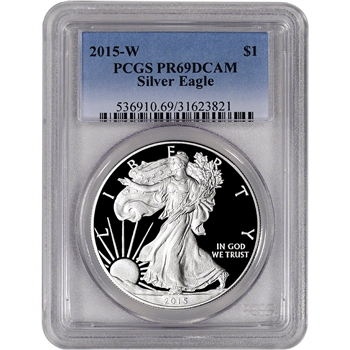 2015-W American Silver Eagle Proof - PCGS PR69 DCAM