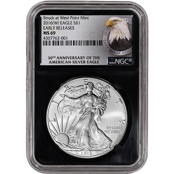 2016-(W) American Silver Eagle - NGC MS69 - Early Releases - 30th Ann Retro
