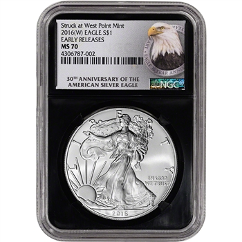 2016-(W) American Silver Eagle - NGC MS70 - Early Releases - 30th Ann Retro