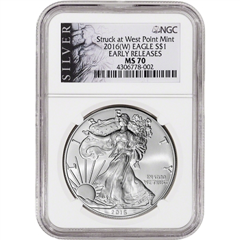 2016-(W) American Silver Eagle - NGC MS70 - Early Releases - ALS Label