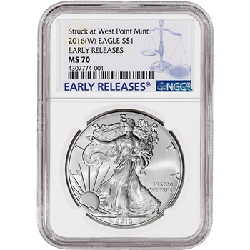 2016-(W) American Silver Eagle - NGC MS70 - Early Releases