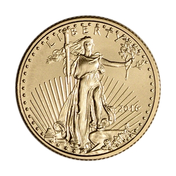 2016 American Gold Eagle (1/10 oz) $5 - BU